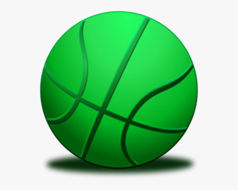 Green Basketball Clipart - Basketball Ball Green Color, Transparent Clipart