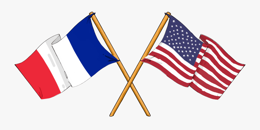 United Of French France States Flag Americans Clipart - France And America, Transparent Clipart