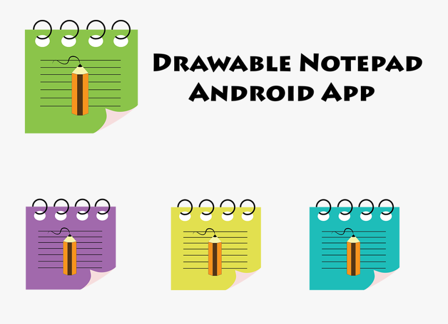Drawable Notepad Colors, Transparent Clipart