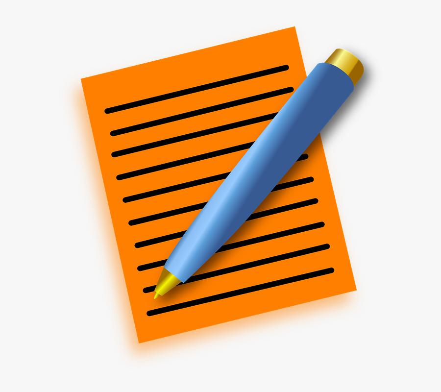 Cartoon Pen And Paper, Transparent Clipart