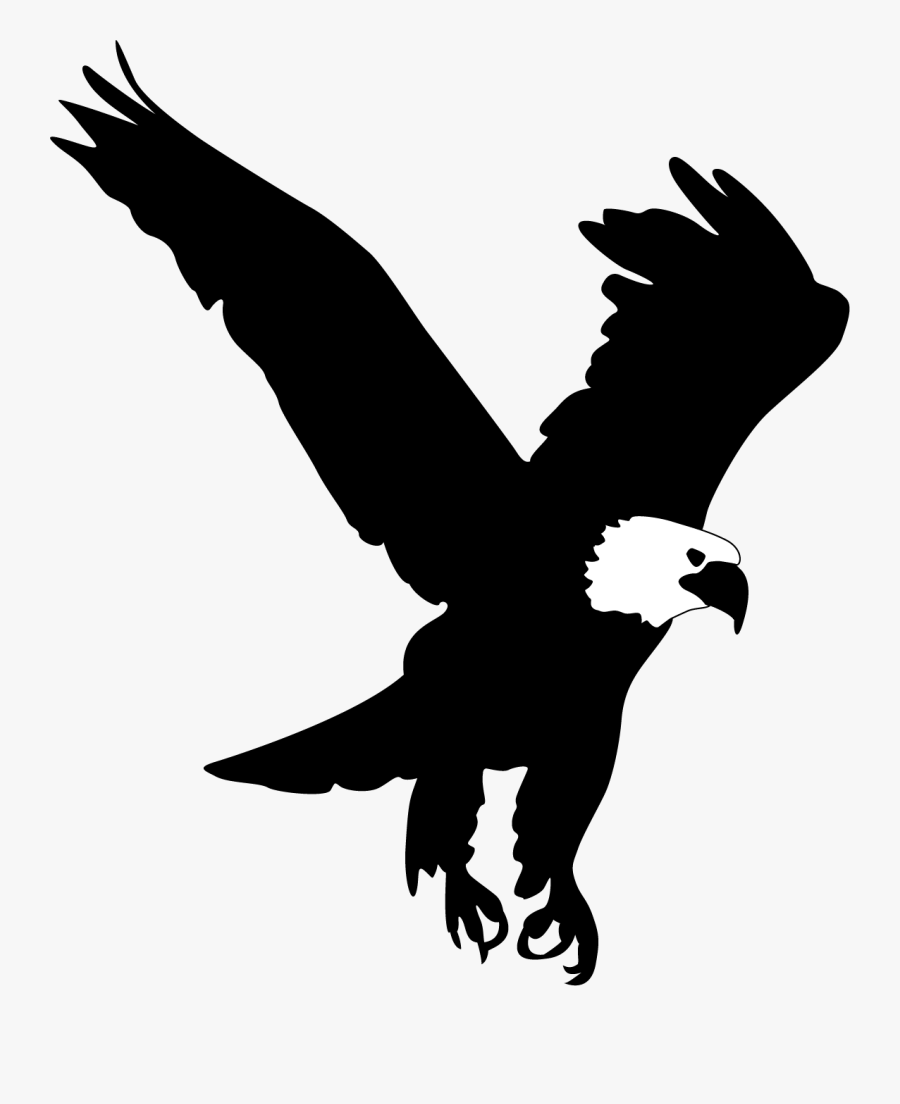 Eagle Silhouette Clip Art Free At Getdrawings - Bald Eagle Silhouette Png, Transparent Clipart