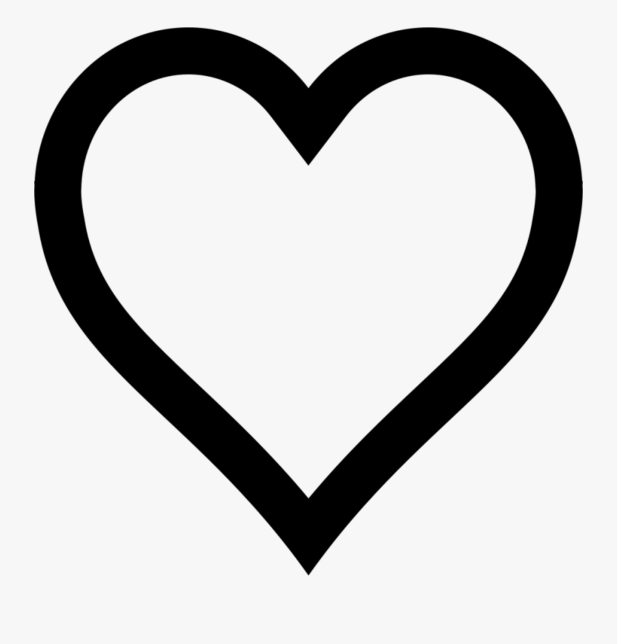 Heart White Black Pattern - Heart Emoji Coloring Page, Transparent Clipart