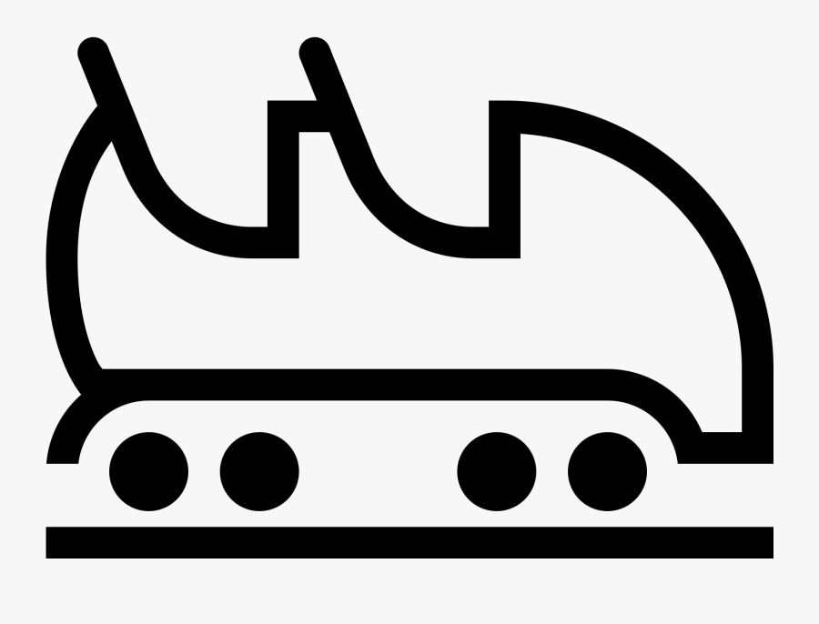 Roller Coaster Collection Icon - Roller Coaster Cart Drawing, Transparent Clipart
