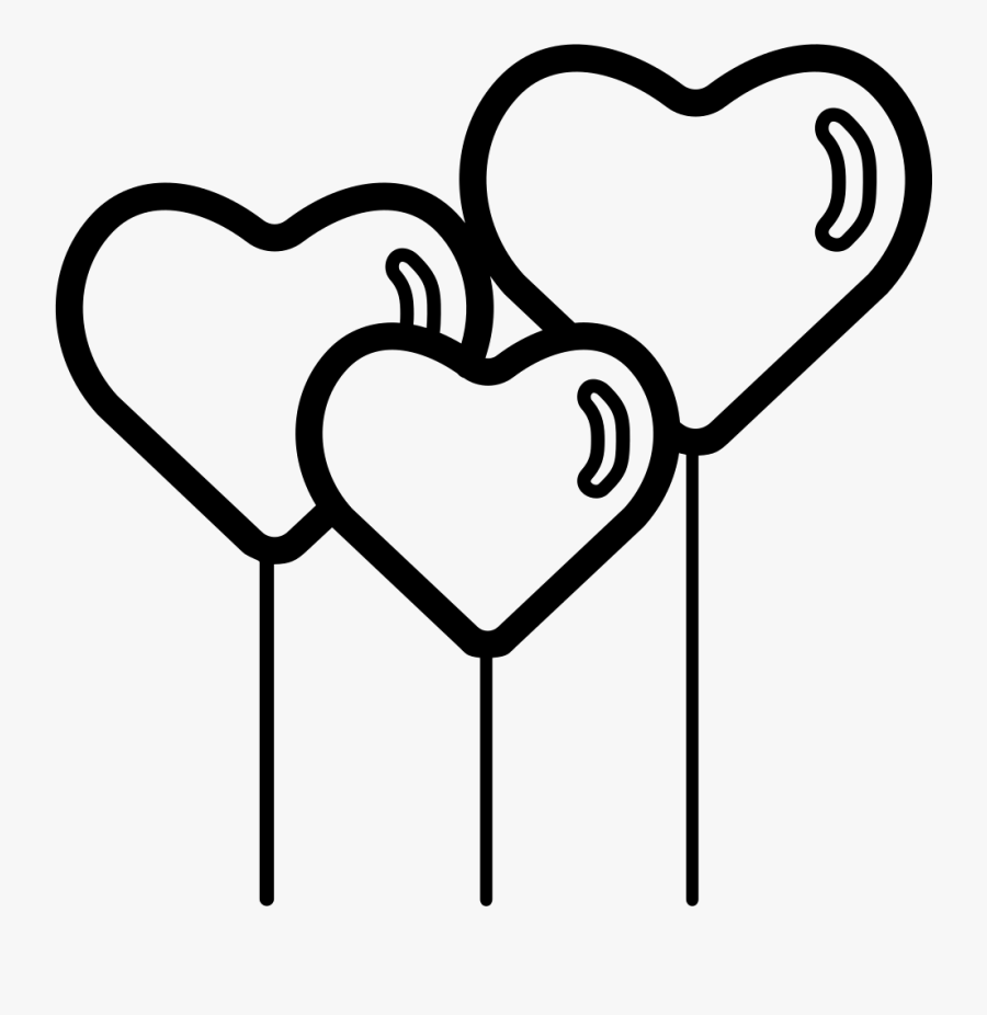 Transparent Hearth Png - Balloon Black And White Png Love, Transparent Clipart