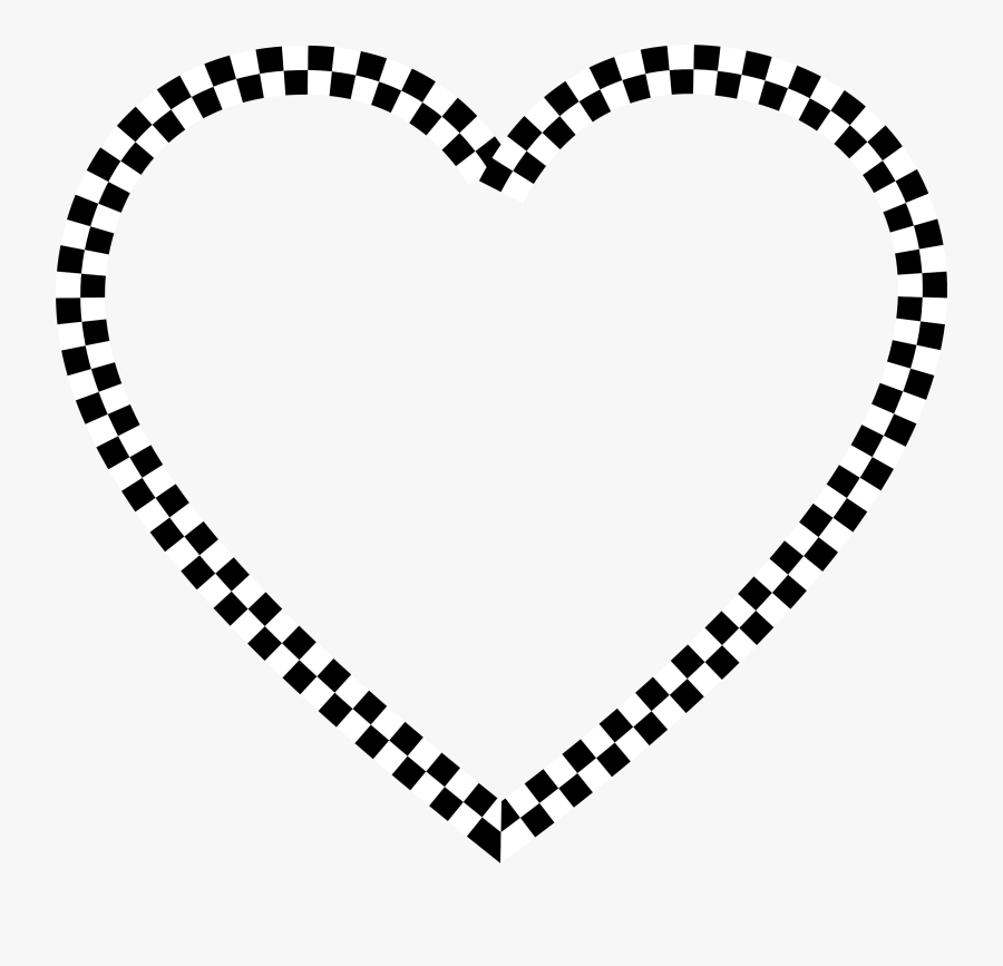 Check Black And White Heart Can Stock Photo - Transparent Background Dog Print Clip Art, Transparent Clipart