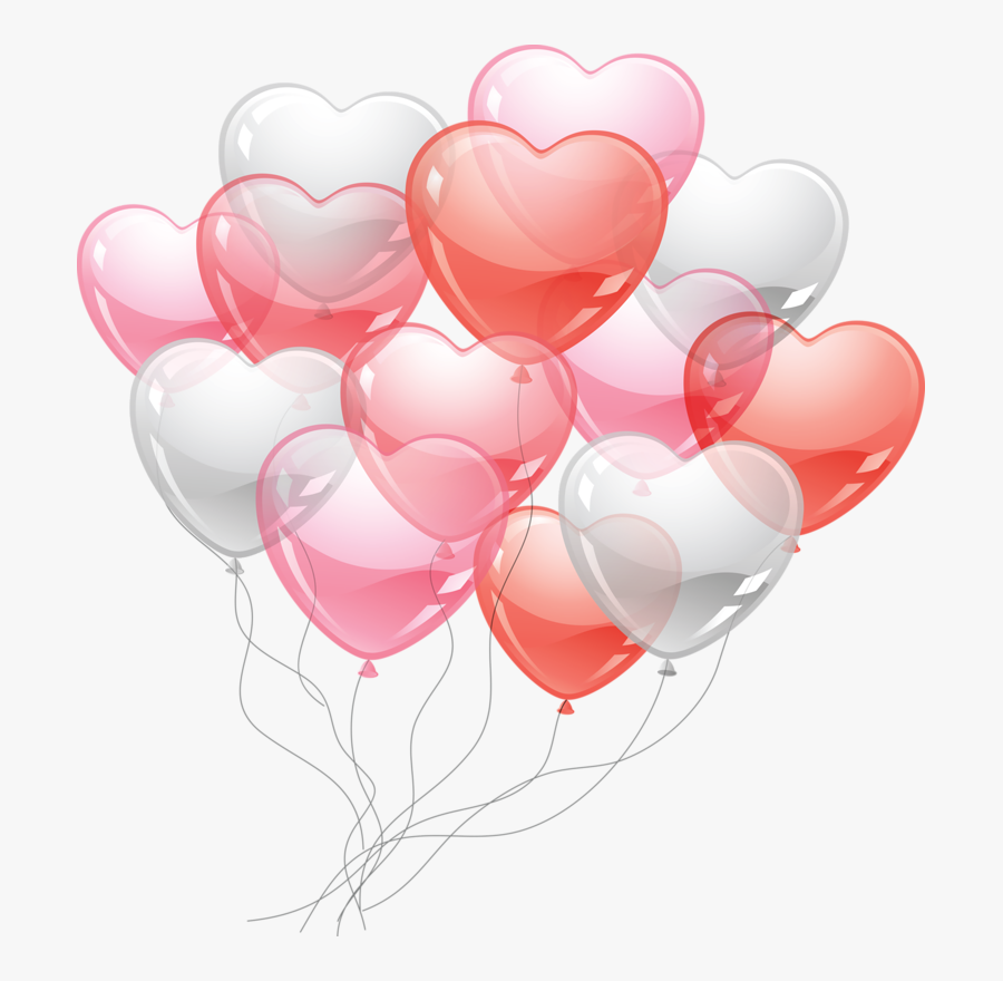 Transparent Cute Heart Png - Valentines Day Balloon Clipart, Transparent Clipart