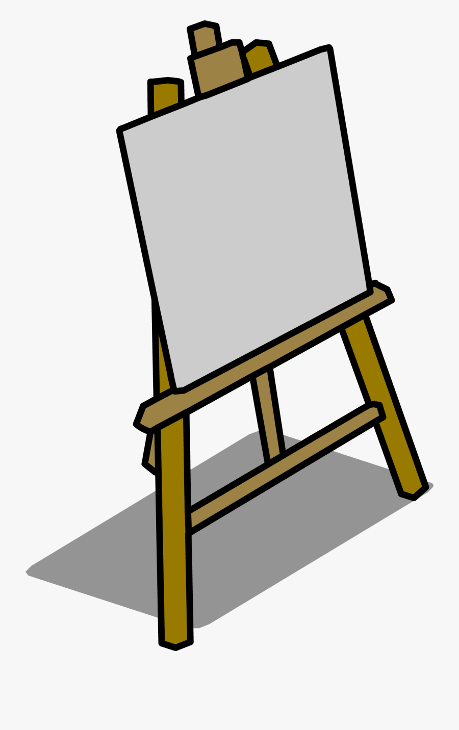Easel Png - Caballete Animado Png, Transparent Clipart