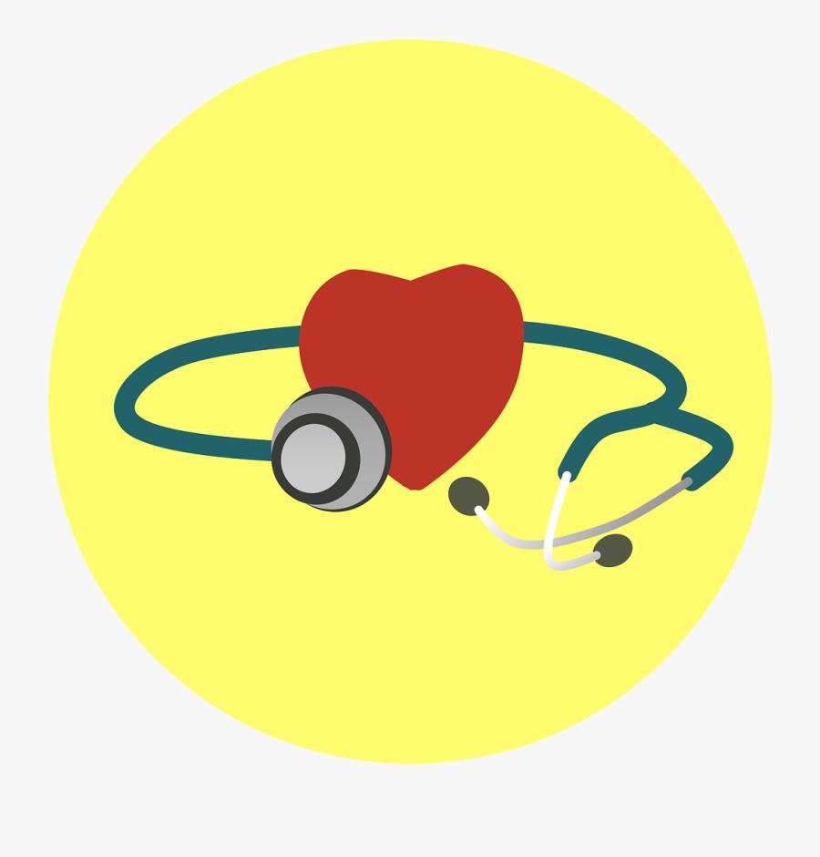 Heart Stethoscope Health Illness Examine - Germany Healthcare, Transparent Clipart