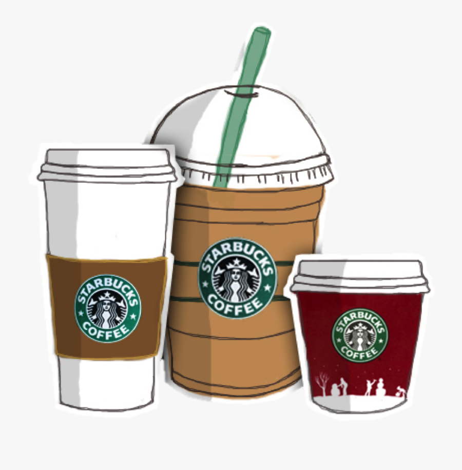 Coffee Frappuccino Starbucks Drawing Download Free - Clipart Starbucks Coffee Cup, Transparent Clipart