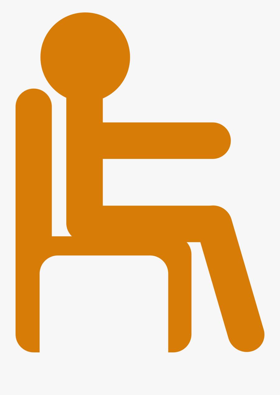 Exercising Clipart Sit Ups - Stick Figure Sitting Down, Transparent Clipart