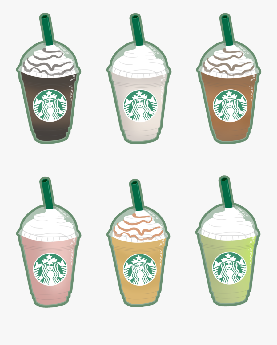 Clip Transparent Library Frappuccino Drawing Starbucks - Simple Starbucks Cup Drawing, Transparent Clipart