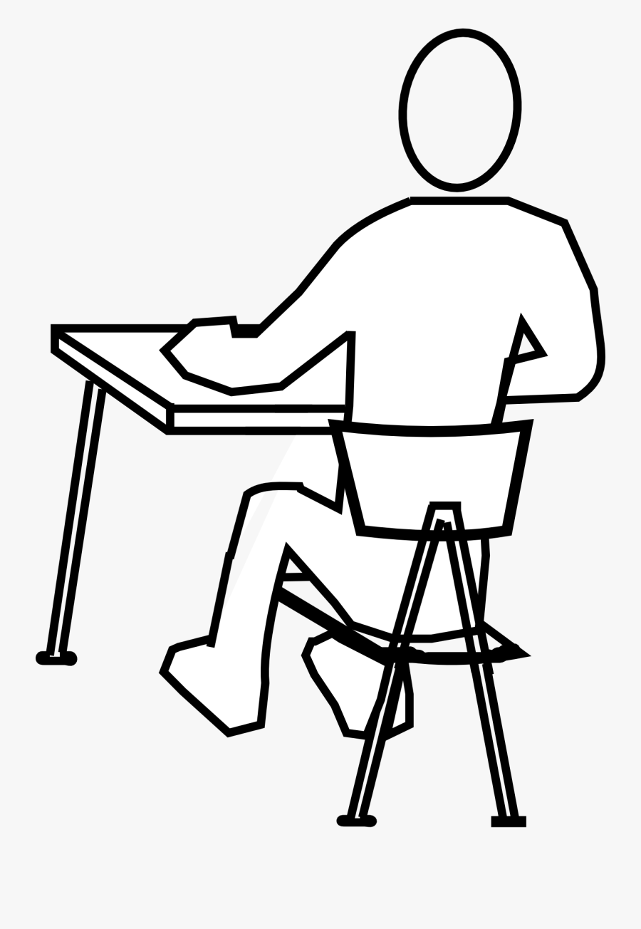 Chair Drawing In Man Sitting - Draw A Person Sitting, Transparent Clipart