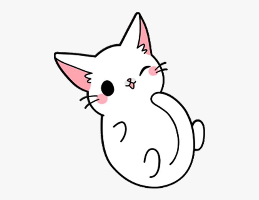 Cute Sit Cat Yang Kitten Drawing Clipart - Cartoon Cute Cat Drawing, Transparent Clipart