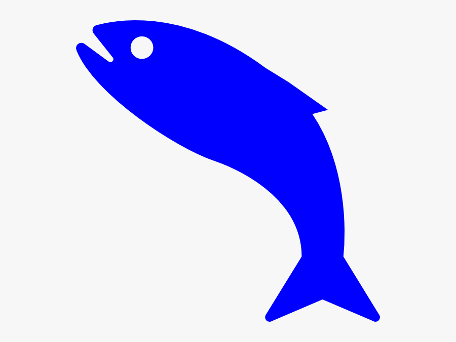 Fish Symbol Blue, Transparent Clipart