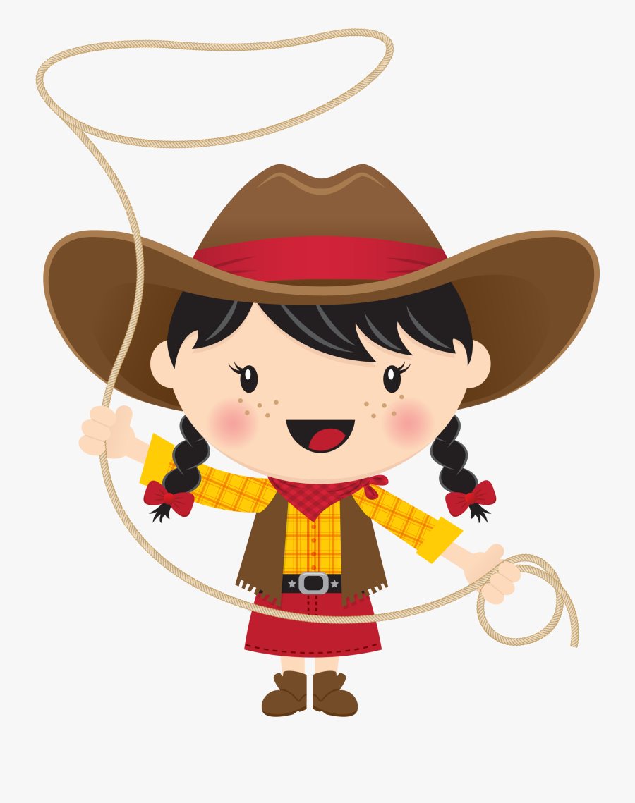 Clip Art Cowboy With Lasso - Cowboy And Cowgirl Clipart, Transparent Clipart