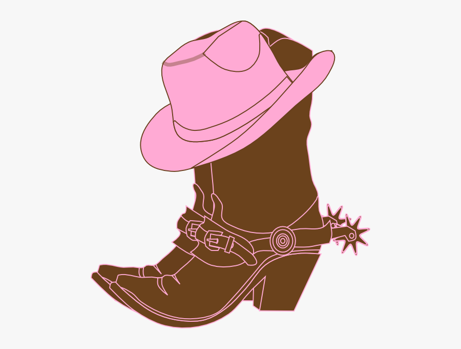 Cowgirl Clipart Cowgirl Clip Art Free Lighter Brown - Cowgirl Boots Clipart, Transparent Clipart
