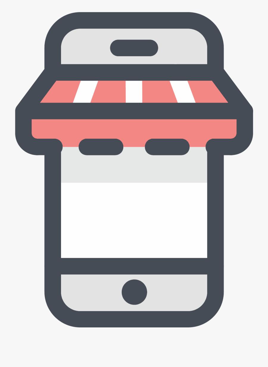 Mobile Shopping Icon - Online Shop Png, Transparent Clipart