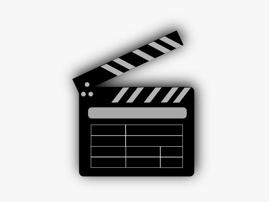 Movie Clip Art At - Movie Cut Board Gif, Transparent Clipart