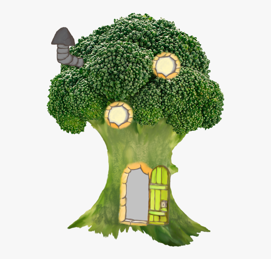 Clip Art House And Tree Clipart - Brassicas Vegetables, Transparent Clipart