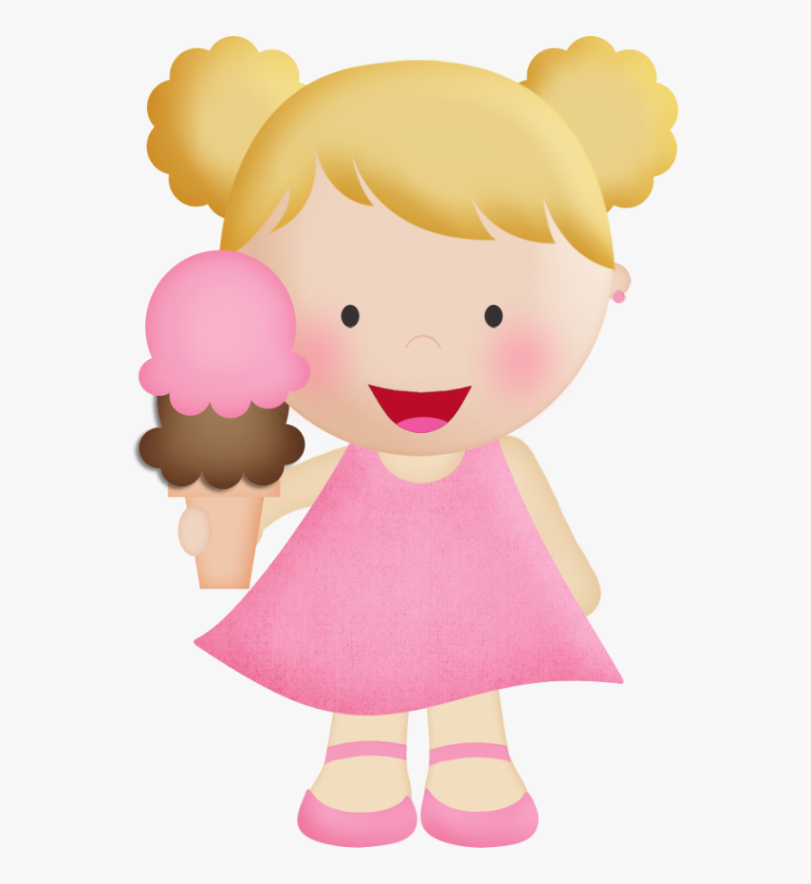 Transparent Girl Eating Ice Cream Clipart - Ice Cream Girls Clipart, Transparent Clipart
