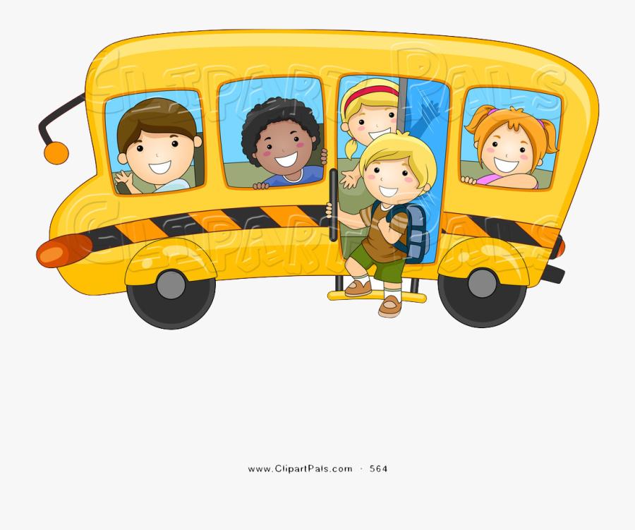 School Bus Animated Transparent Background, Transparent Clipart