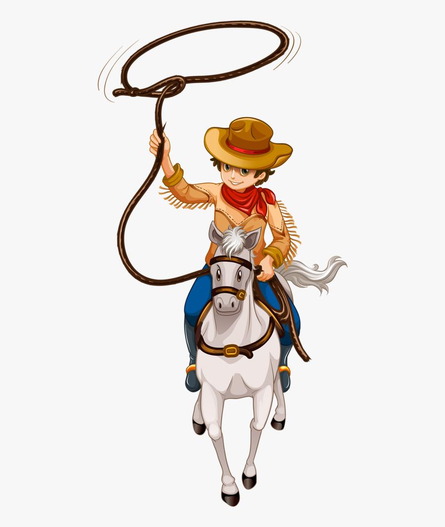 Cowboy E Cowgirl Cartoon Man Riding Horse Free Transparent Clipart Clipartkey