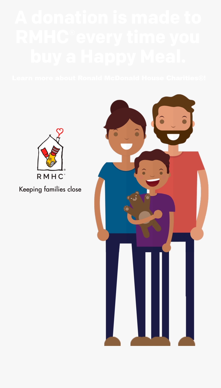 A Donation Is Made To Rmhc Every Time You Buy A Happy - Family Icons Cartoon Transparent Background, Transparent Clipart
