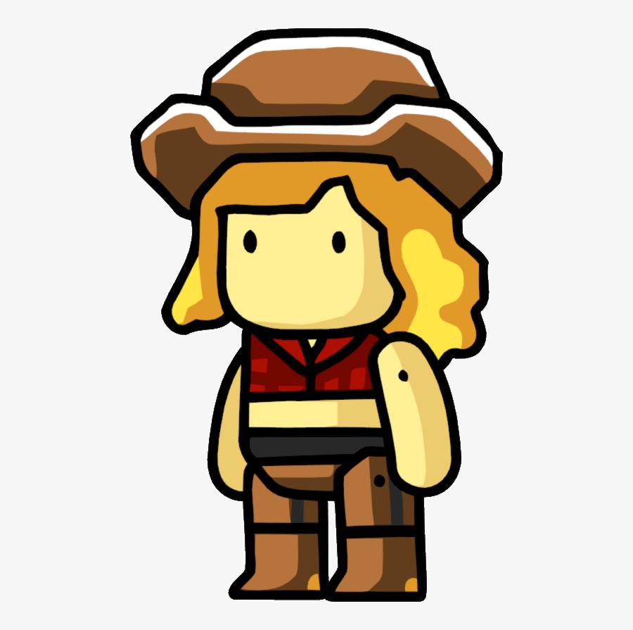 Scribblenauts Cowgirl, Transparent Clipart