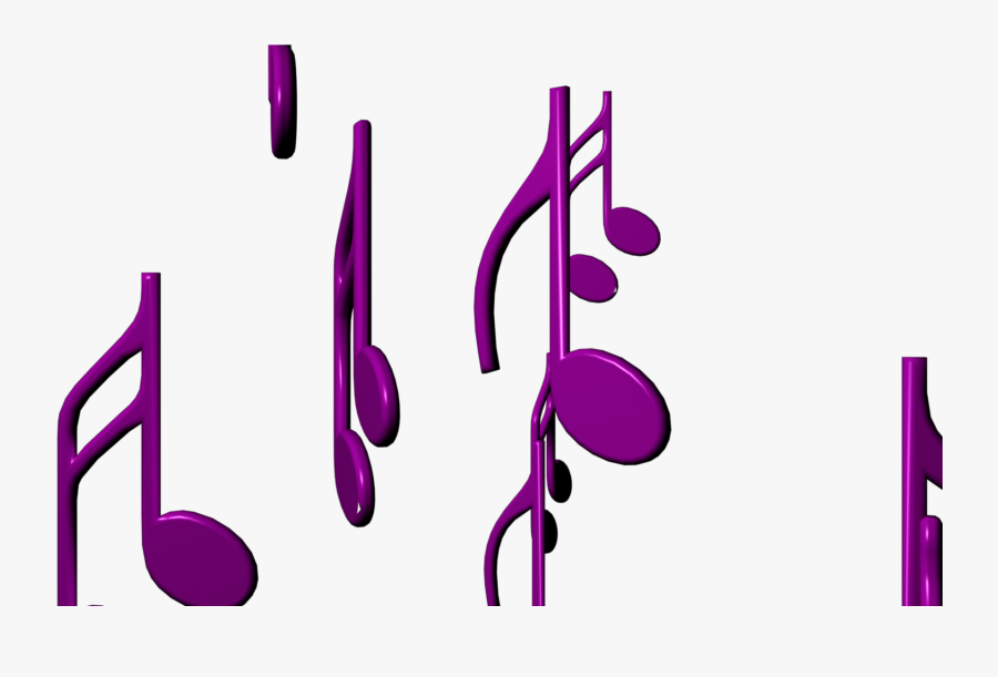 Music Themed Video Clipart With Purple Musical Notes - Graphic Design, Transparent Clipart