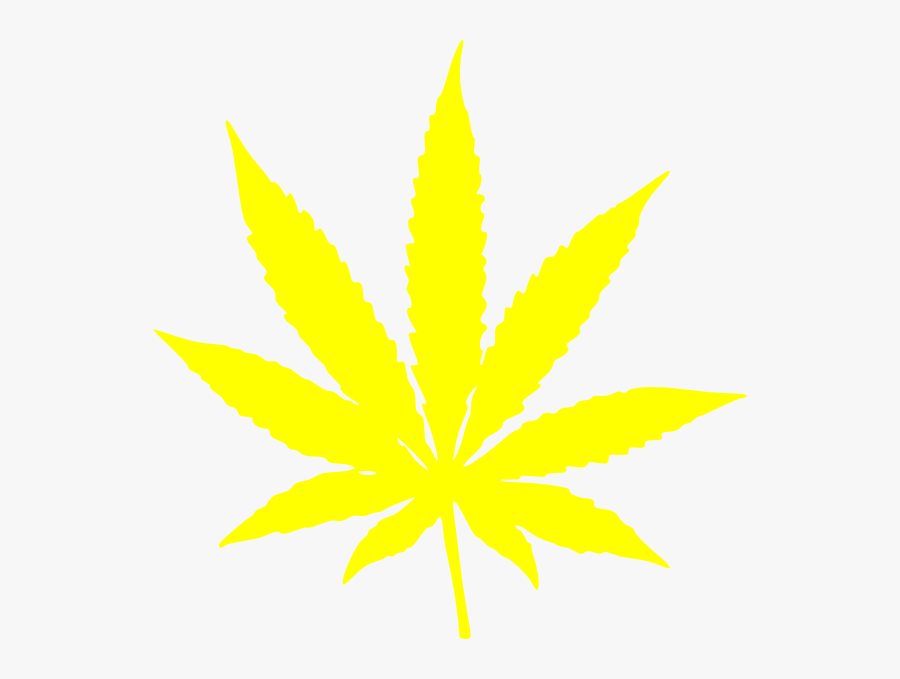 Weed Plant Cartoon Black And Yellow Weed Leaf Free Transparent Clipart Clipartkey
