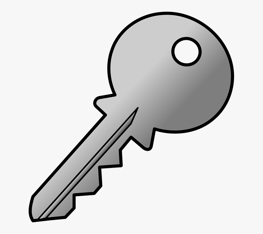 Keys Clipart Jpeg - Chave De Porta Em Desenho, Transparent Clipart