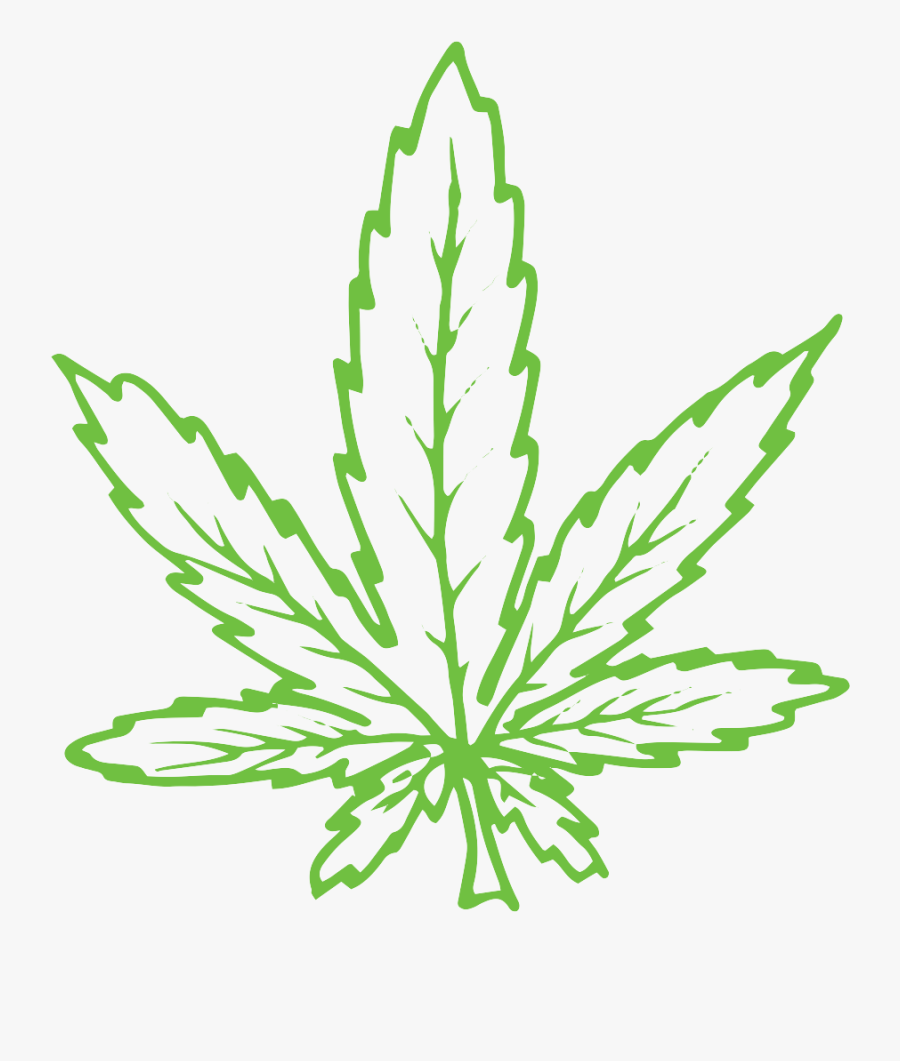 Clip Art Easy Pot Leaf Drawing - Weed Leaf Drawing, Transparent Clipart