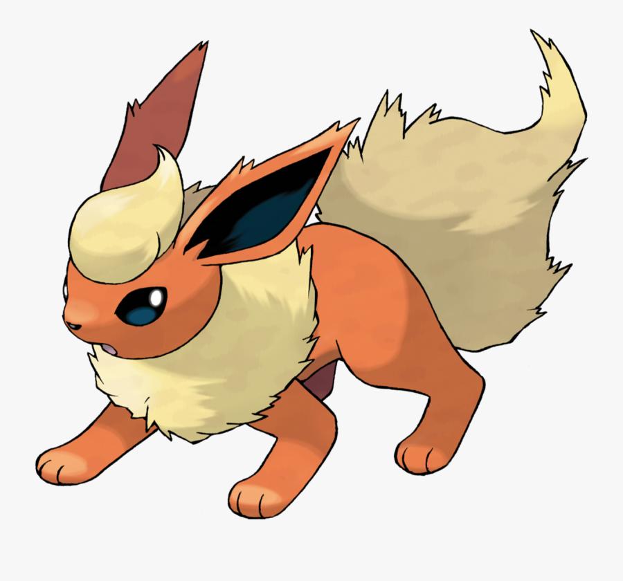 Cartoon,clip Character,animal - Pokemon Eevee Evolution Flareon, Transparent Clipart