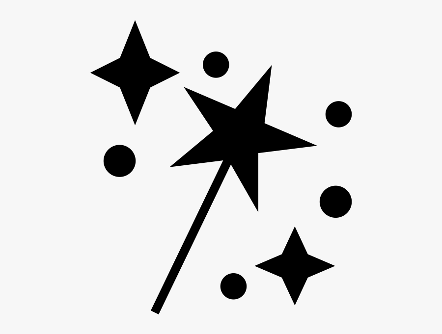 Magic Wand Rubber Stamp - Tri Star, Transparent Clipart