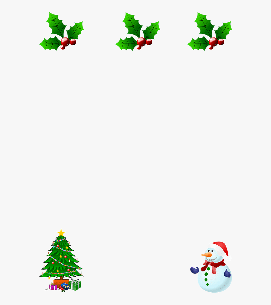 Free Christmas Borders - Christmas Borders Gif, Transparent Clipart