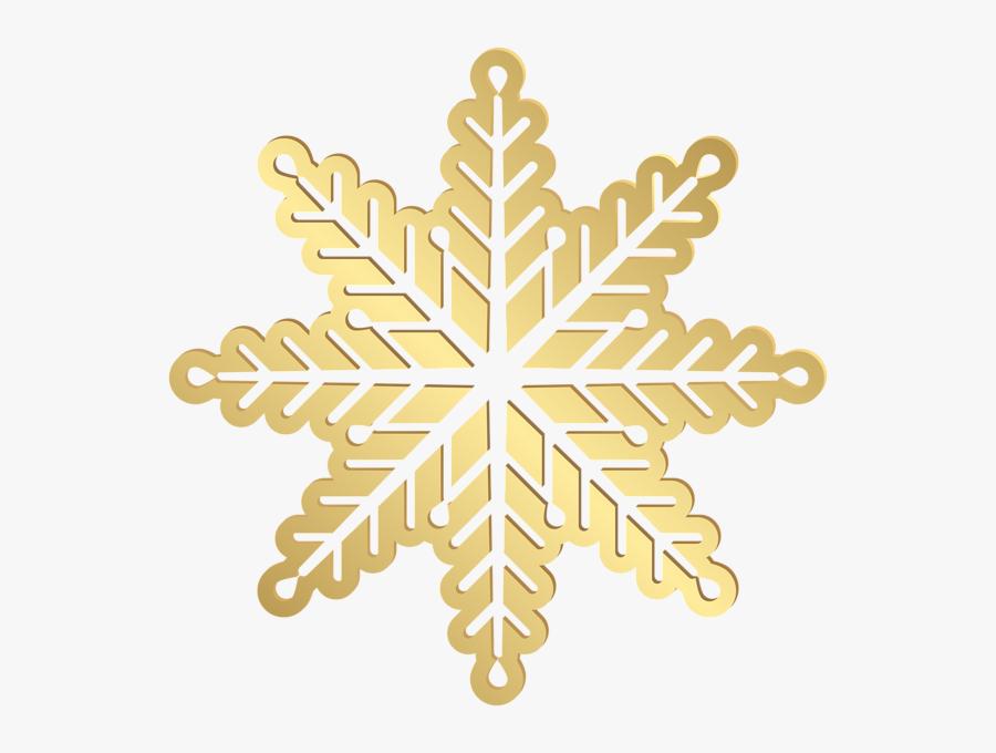 Gold Clip Art Image - Transparent Background Gold Snowflake Clipart, Transparent Clipart