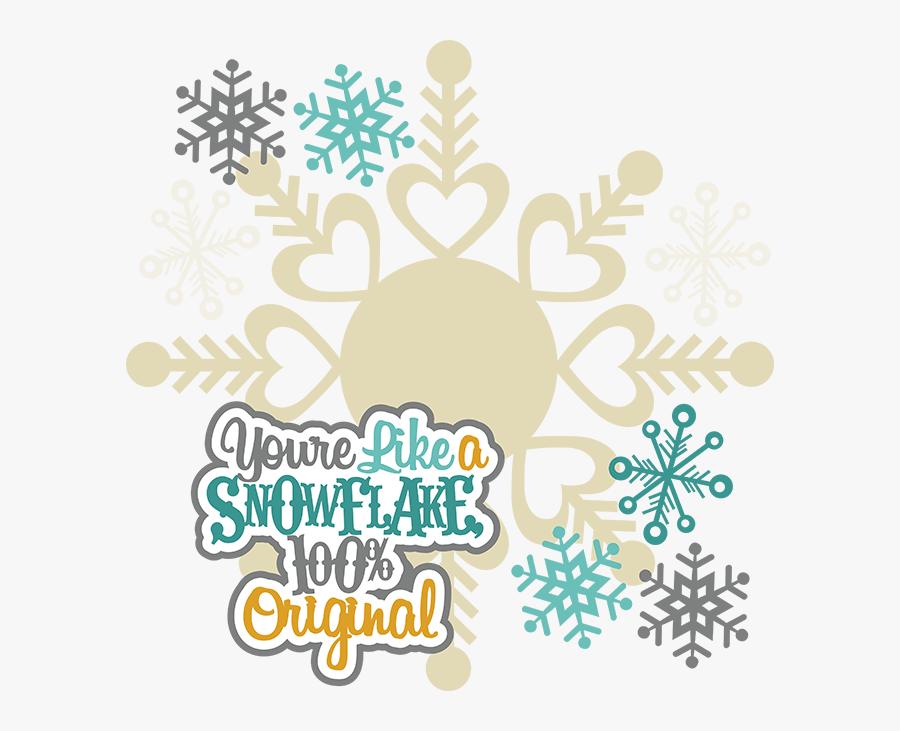 Snowflake Clipart Cute - Miss Kate Cuttables Winter, Transparent Clipart