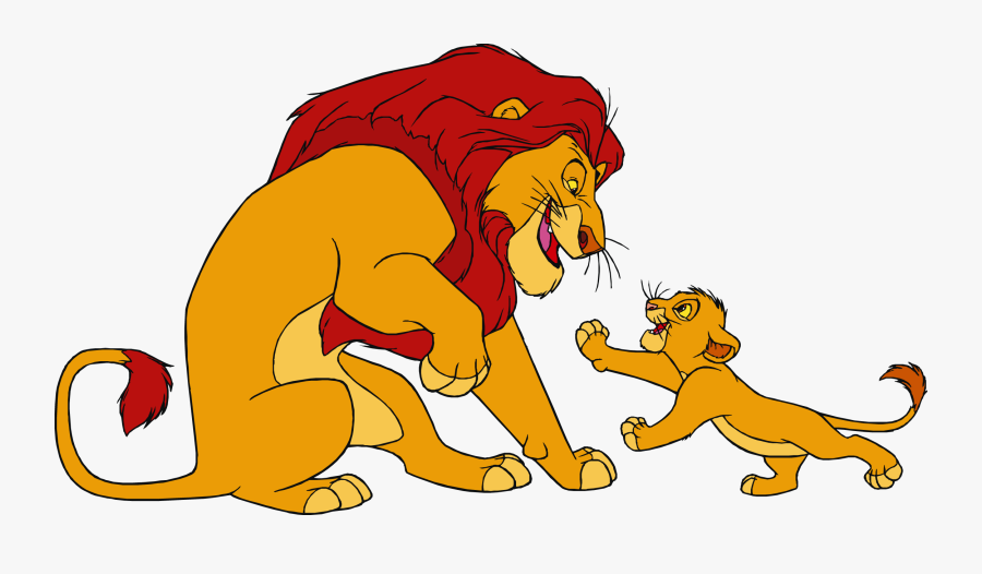 Lion King Cartoon Characters Clipart - Lion King Clipart, Transparent Clipart