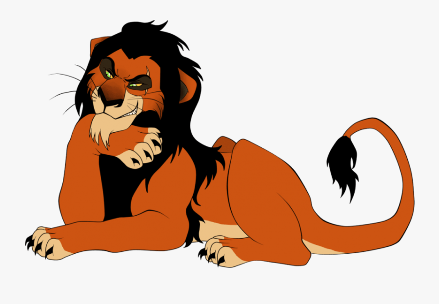 King Lion Png - Lion King Scar Cartoon, Transparent Clipart