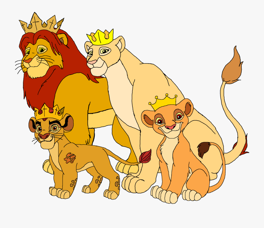 Transparent Worry Clipart - Royal Family Lion King, Transparent Clipart