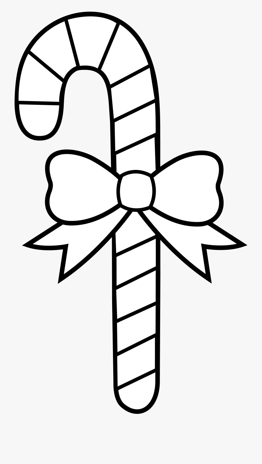 Christmas Outline Collection Tree - Christmas Drawings Candy Cane, Transparent Clipart