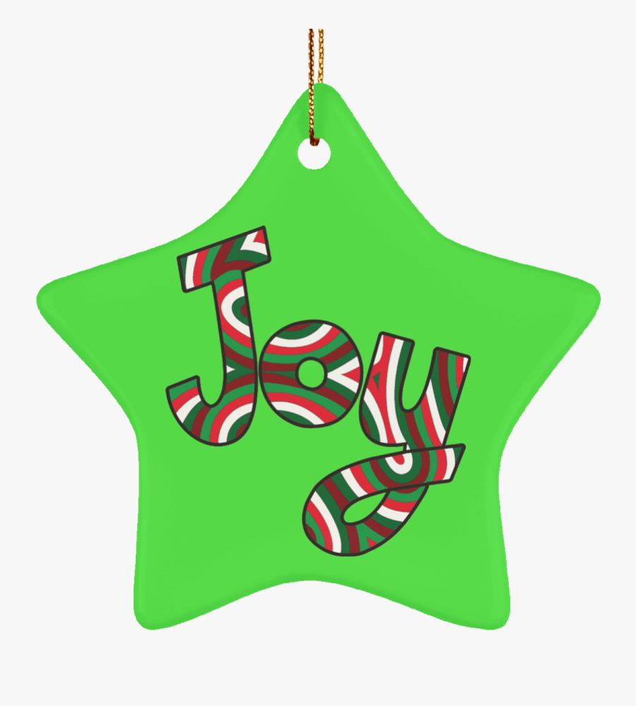 Joy Ceramic Ornament - Christmas Ornament, Transparent Clipart