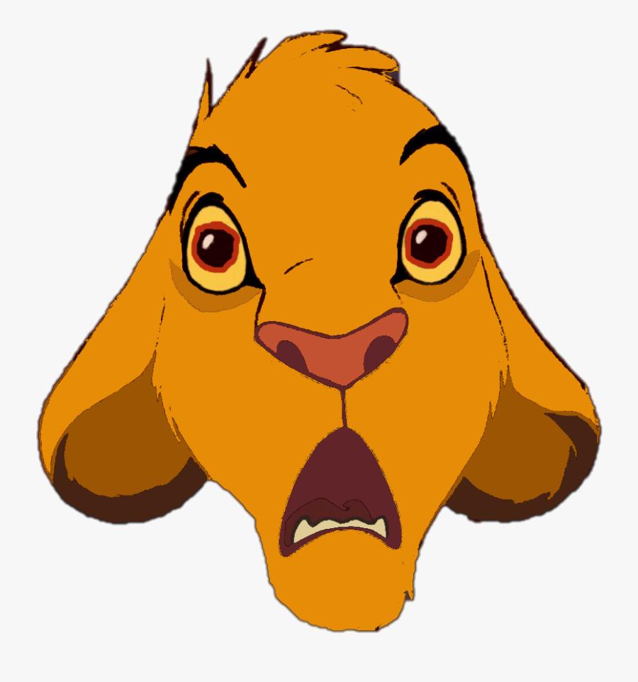 Lion King Clipart Png Simba - Lion King Simba Shocked, Transparent Clipart