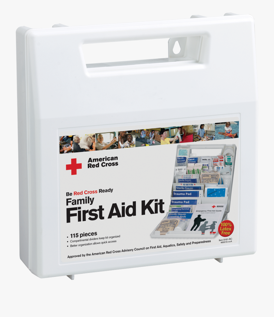 Family First Aid Kit , Png Download - American Red Cross First Aid Kit Contents, Transparent Clipart