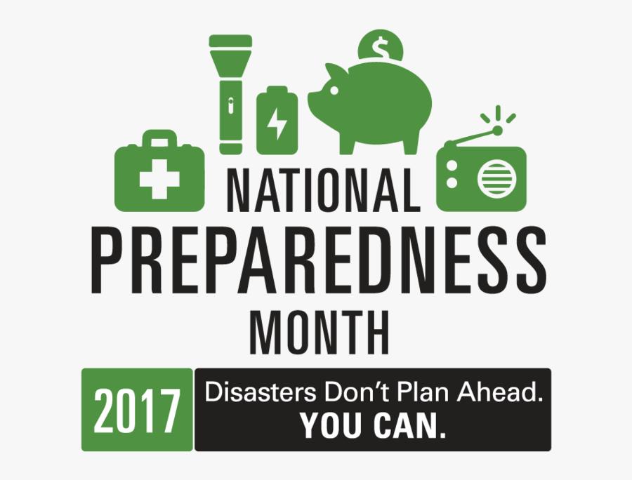 Npm17 Logo Rgb Medium - National Disaster Preparedness Month 2019, Transparent Clipart