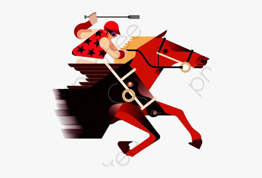 Horse Racing - Horse Race Cartoon Png, Transparent Clipart