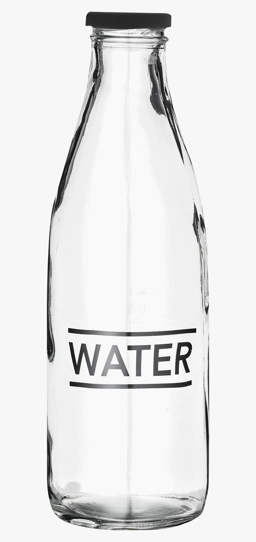 Best Water Bottle Png Clipart - Glass Water Bottle Transparent, Transparent Clipart