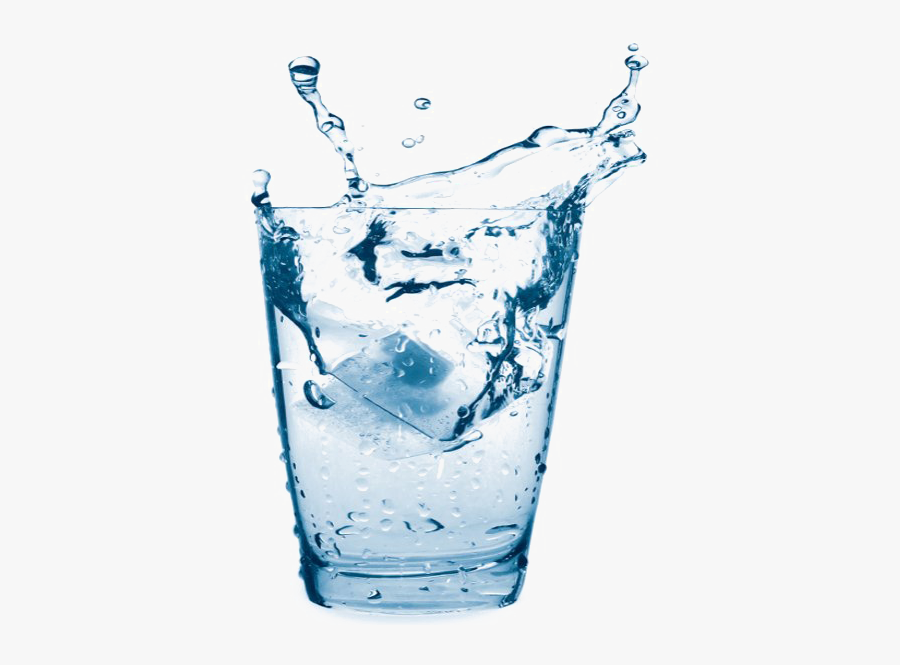 Water,drink,ice Cube,drinking Glass,carbonated Material - Glass Of Water Transparent, Transparent Clipart