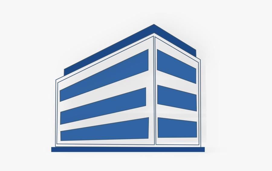 Blue,angle,area - Office Building Clip Art, Transparent Clipart