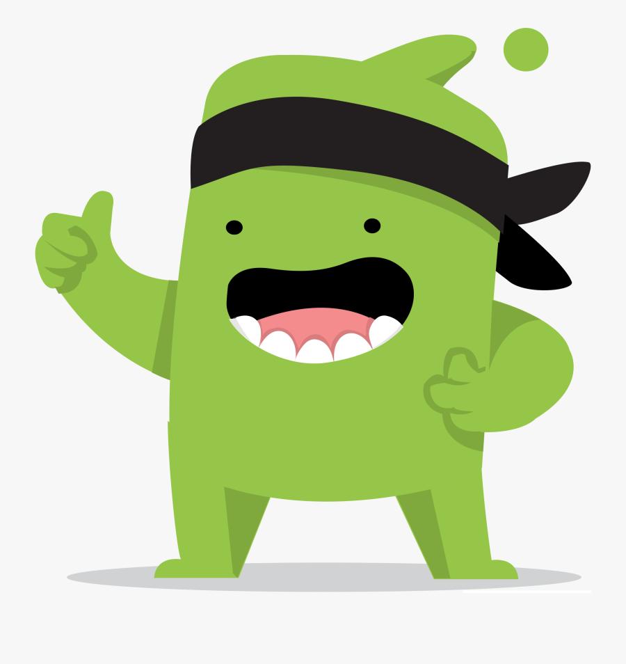 Monster Clipart Dojo - Class Dojo Green Monster, Transparent Clipart